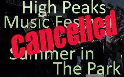 Disappointing News, Sunday in the Park and High Peaks Cancelled